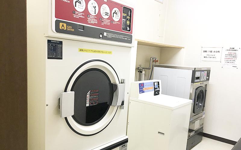 コインランドリーコーナーがあるので、長期滞在でもお洗濯可能。